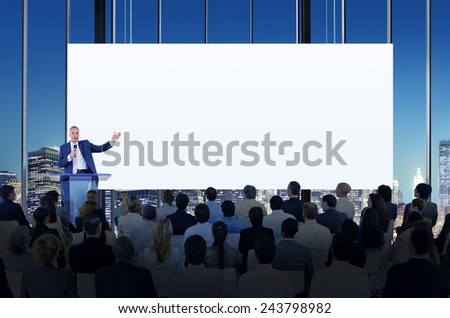 Diversity Business People Meeting Conference Seminar Concept - stock photo