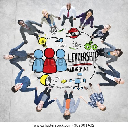 Diversity Casual People Leadership Management Team Support Concept - stock photo