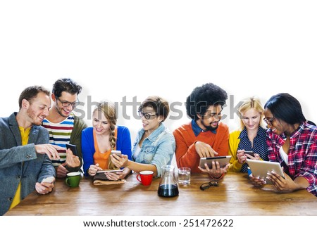 Diversity Casual Team Meeting Brainstorming Cheerful Concept - stock photo