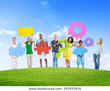 Diversity Cooperation Partnership Solution Social Networking Concept - stock photo