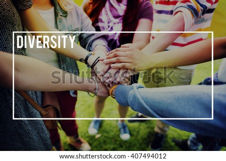 Diversity Multi Racial Community People Concept - stock photo