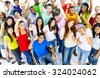 Diversity People Crowd Friends Communication Concept - stock photo