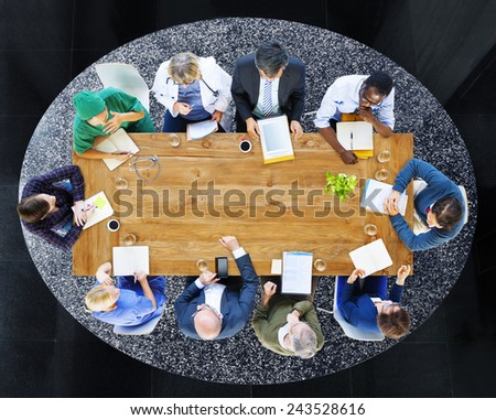 Diversity Professional Occupation Brainstorming Discussion Team Concept - stock photo