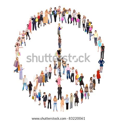 Diversity Symbol Antiwar - stock photo