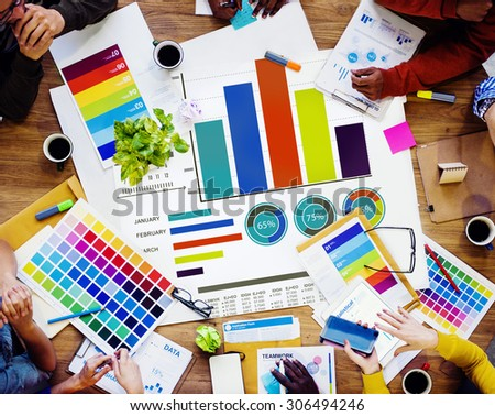 Diversity Teamwork Strategy Design Brainstorming Ideas Concept - stock photo