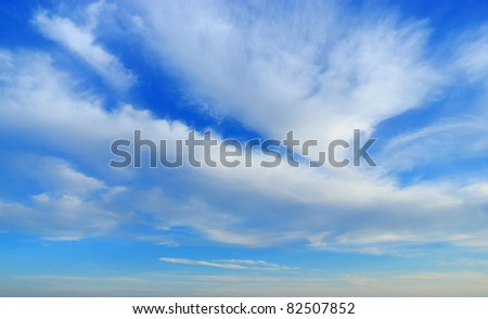 Divine Beauty Background of Blue Godly Paradise - stock photo