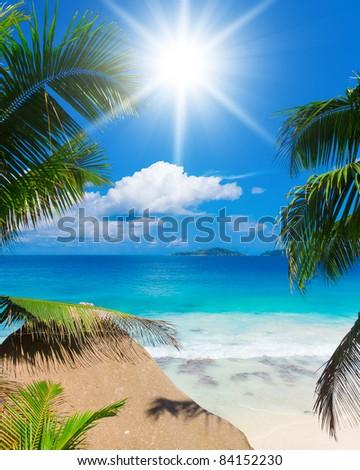 Divine Seascape Bay in a Dream - stock photo
