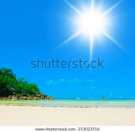 Divine Shoreline Sunshine Coast  - stock photo