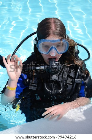 Diving school for teenager
