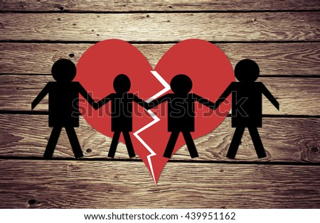 Divorce and Child Custody concept