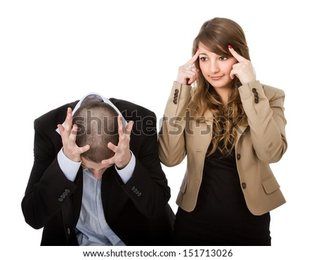 divorce and different opinion - stock photo