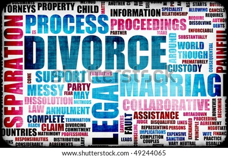 Divorce Marriage Process and the Ugly Truth - stock photo