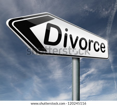 divorce papers or document by lawyer to end marriage dissolution often after domestic violence alimony parental plan and rights - stock photo