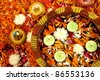 Diwali Decoration on traditional Indian festival of lights - stock photo