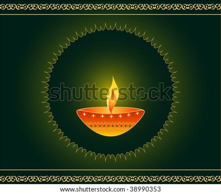 Diwali festival lamp - stock photo