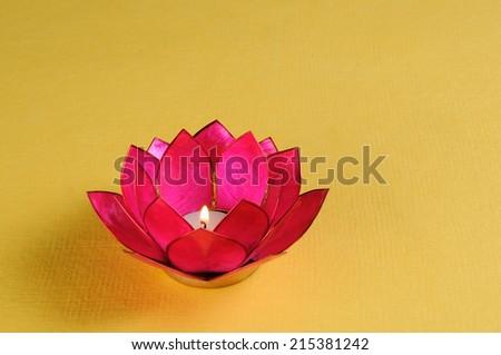 Diwali Oil Lamp ,Beautiful happy diwali  diya festival,Diwali Lamp on Background, Beautifully Lit Lamps for the Hindu Diwali festival - stock photo