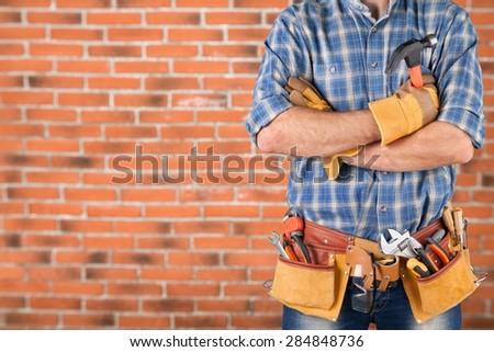 Diy, men, belt. - stock photo
