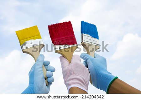 DIY paint - stock photo
