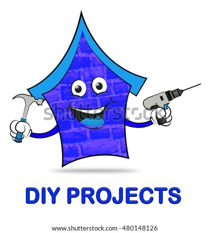 Diy stores representing do yourself 3d stock illustration 476954425 diy projects showing do it yourself home improvement solutioingenieria Gallery