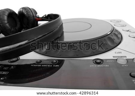 dj mixer isolated on white - stock photo