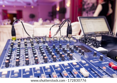 DJ place before work. - stock photo