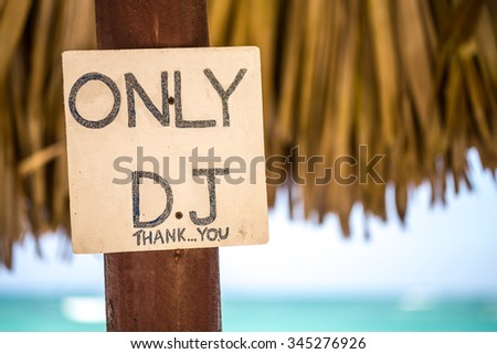 DJ Place in the Beach - stock photo