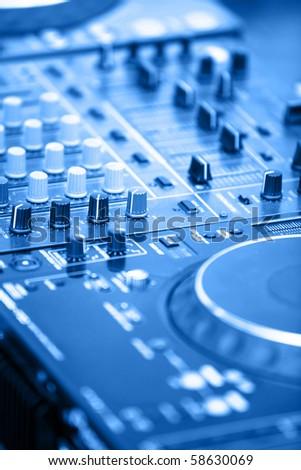 DJ's equipment - stock photo