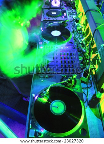 DJ's Music Equipment - stock photo