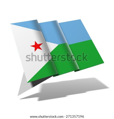 Djibouti flag 3D banner - stock photo