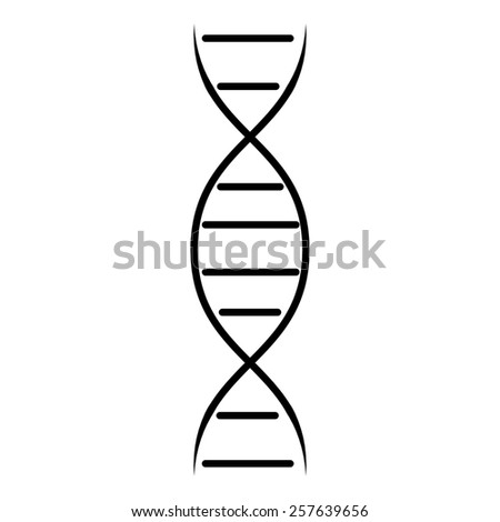DNA Icon - stock photo