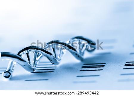 DNA, molecular lab test - stock photo