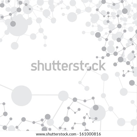 Dna molecule, abstract illustration isolated in the white background
