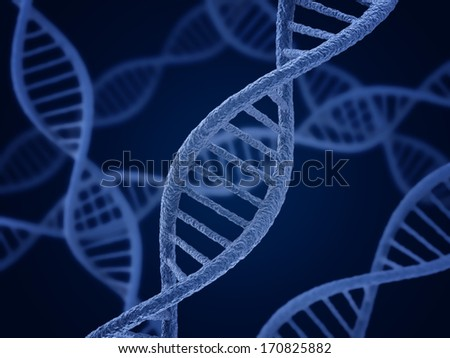 DNA molecule. Biology, science and medical technology concept.