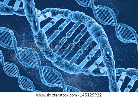 DNA molecules on the beautiful background - stock photo