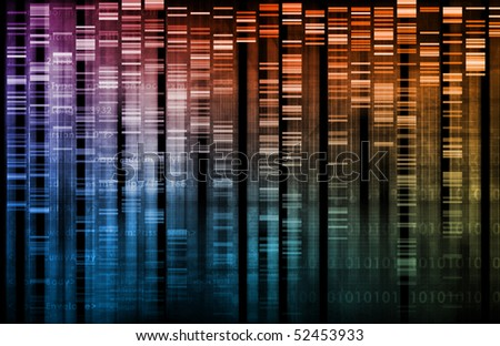 DNA Research of Science Genetic Data Background - stock photo