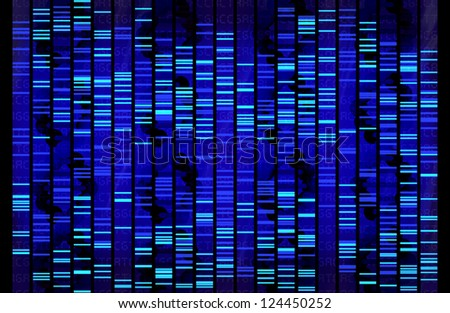 DNA Sequence - stock photo