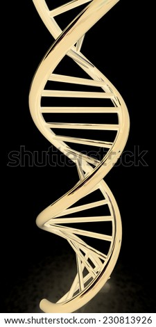 DNA structure model on black - stock photo