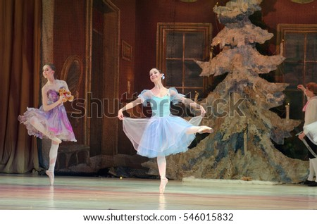 DNIPRO, UKRAINE - DECEMBER 30, 2016: Nutcracker ballet performed by Dnipro Opera and Ballet Theatre ballet.