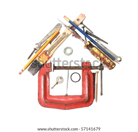 Do it yourself house concept - stock photo