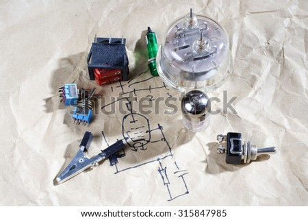Do yourself old retro radio electronic stock photo 315847985 do it yourself old retro radio electronic parts vintage background solutioingenieria Images