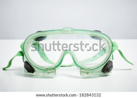 Do it yourself safety goggles isolated on white background. DIY protection and safety concept - stock photo