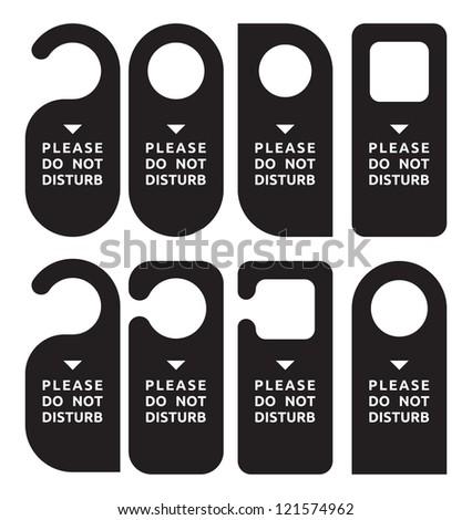 do not disturb door hanger set - stock photo