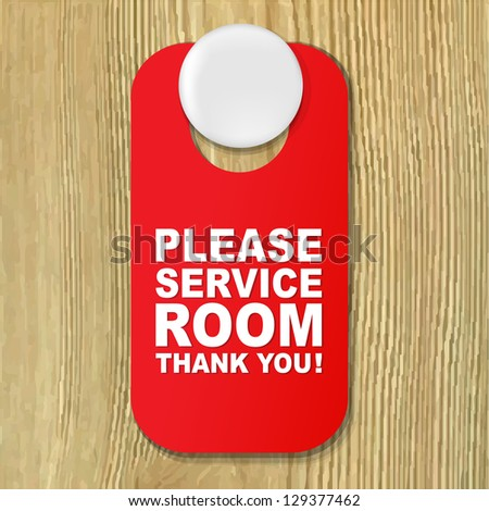 Do Not Disturb Red Sign - stock photo