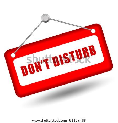 Do not disturb sign - stock photo
