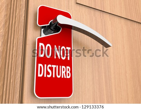 Do not disturb sign on a hotel door handle - stock photo
