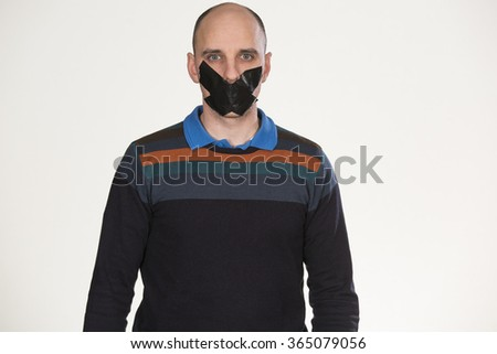 Do not say a word - stock photo
