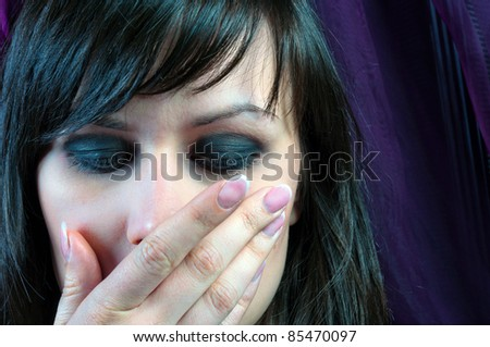Do not say nothing little girl - stock photo