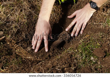 Do not touch find like this - stock photo
