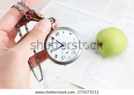 Do not waste your time, Time management or Time is money - stock photo