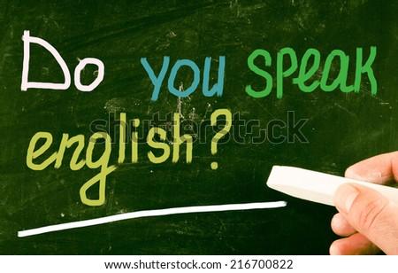 do you speak english? - stock photo